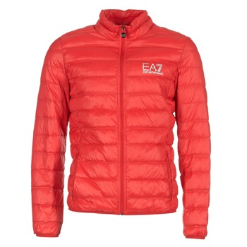 Kleidung Herren Daunenjacken Emporio Armani EA7 TRAIN CORE ID DOWN LIGHT JKT Rot