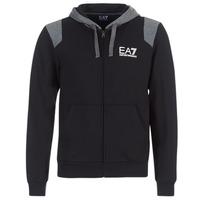 Kleidung Herren Sweatshirts Emporio Armani EA7 TRAIN TRITONAL M HOODIE FZ Schwarz