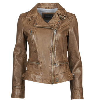 Kleidung Damen Lederjacken / Kunstlederjacken Oakwood VIDEO Cognac