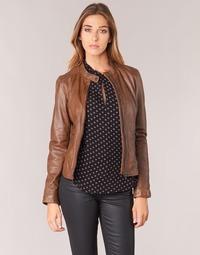 Kleidung Damen Lederjacken / Kunstlederjacken Oakwood 62578 Camel