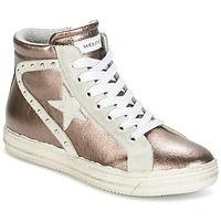 Schuhe Damen Sneaker High Meline POLARE Bronze