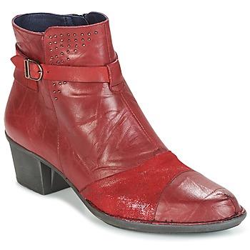 Schuhe Damen Low Boots Dorking DALMA Rot