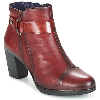 Schuhe Damen Low Boots Dorking EVELYNE Rot