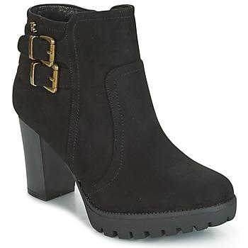Schuhe Damen Low Boots Refresh CALI Schwarz