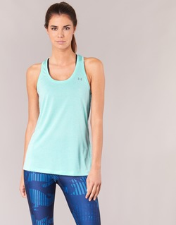 Kleidung Damen Tops Under Armour TECH TANK - SOLID Grün
