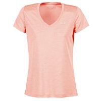 Kleidung Damen T-Shirts Under Armour TECH SSV - TWIST Korallenrot