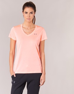 Kleidung Damen T-Shirts Under Armour TECH SSV - TWIST Korallenrot