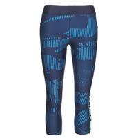 Kleidung Damen Leggings Under Armour UA HG ARMOUR GRAPHIC CAPRI Blau