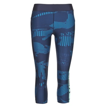 Kleidung Damen Leggings Under Armour UA HG ARMOUR GRAPHIC CAPRI Blau