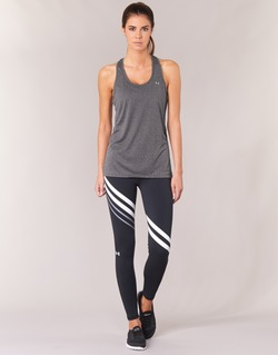 Kleidung Damen Leggings Under Armour FAVORITE LEGGING ENGINEERED Schwarz / Weiss