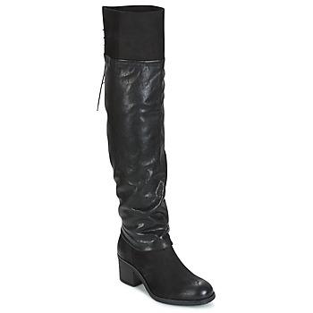 Schuhe Damen Kniestiefel Mjus SHAGGY Schwarz
