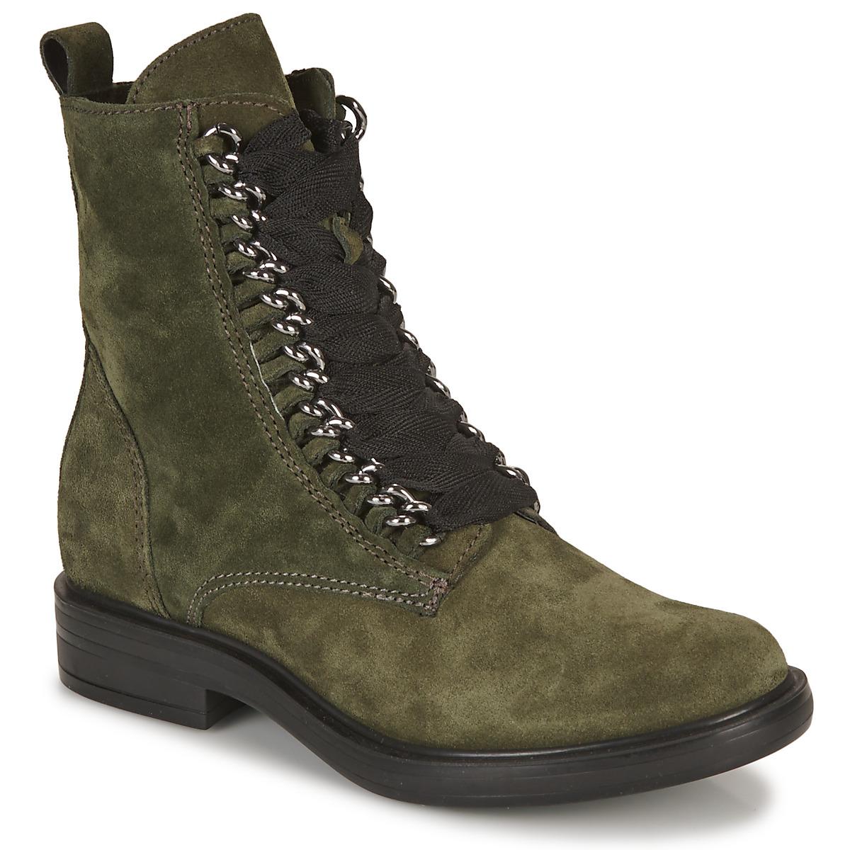Mjus CAFE CHAIN Kaki - Kostenloser Versand bei Spartoode ! - Schuhe Boots Damen 103,20 €