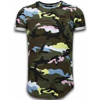 Kleidung Herren T-Shirts Tony Backer Known Camouflage Long Fi Army Grün