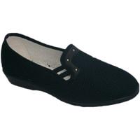 Schuhe Damen Hausschuhe Made In Spain 1940 Stoff Schuhregal mit halber Passfeder So Blau