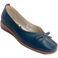 Schuhe Damen Slipper 48 Horas Frau Keilschuh manoletina niedrigen Span Blau