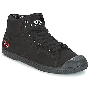 Schuhe Damen Sneaker High Le Temps des Cerises BASIC 03 Schwarz
