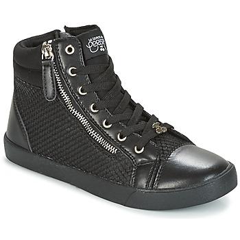 Schuhe Damen Sneaker High Le Temps des Cerises KIM Schwarz
