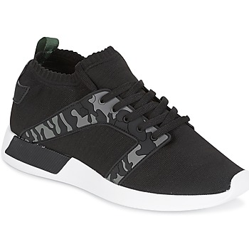 Schuhe Herren Sneaker Low Cash Money ARMY Schwarz / Kaki
