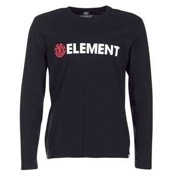 Kleidung Herren Langarmshirts Element BLAZIN LS Schwarz