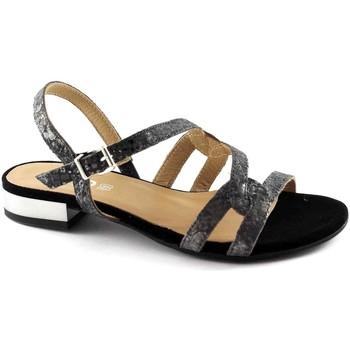 Schuhe Damen Sandalen / Sandaletten Igi&co IGI & CO 78300 Schwarze Frauen Schuhe, elegante Lederband Sandal Nero