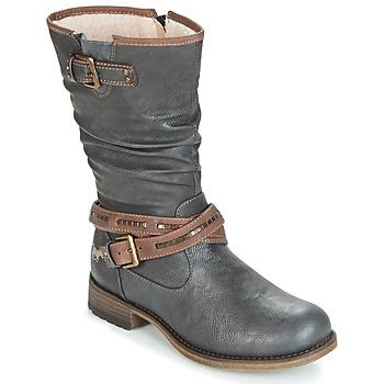 Schuhe Damen Klassische Stiefel Mustang ISALBA Graphit