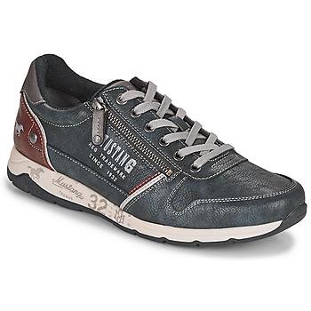 Schuhe Herren Sneaker Low Mustang BRICA Marine