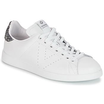 Schuhe Damen Sneaker Low Victoria DEPORTIVO BASKET PIEL Weiss / Grau