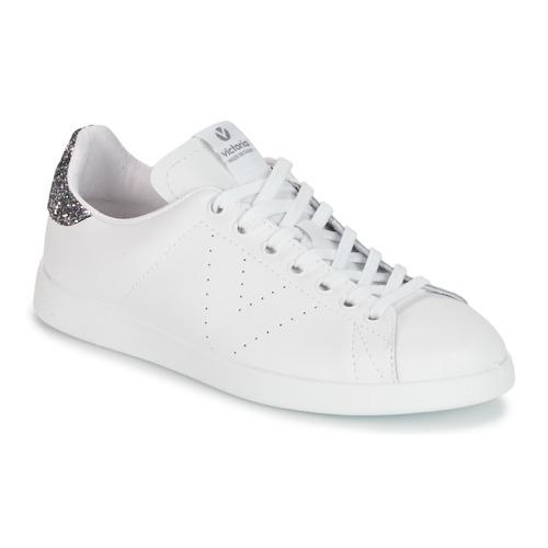 Victoria DEPORTIVO BASKET PIEL Weiss / Grau  Schuhe Sneaker Low Damen 59