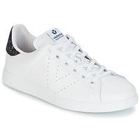 Schuhe Damen Sneaker Low Victoria DEPORTIVO BASKET PIEL Weiß / Blau
