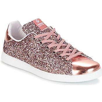Schuhe Damen Sneaker Low Victoria DEPORTIVO BASKET GLITTER Rose