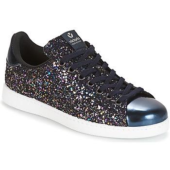 Schuhe Damen Sneaker Low Victoria DEPORTIVO BASKET GLITTER Marine