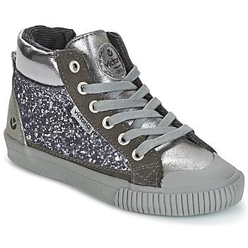 Schuhe Mädchen Sneaker High Victoria BOTA PIEL PU/GLITTER Silbern
