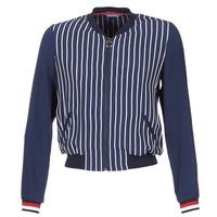 Kleidung Damen Jacken / Blazers Tommy Hilfiger NALOME GLOBAL STP BOMBER Marine / Weiss / Rot