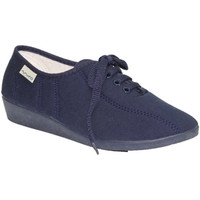 Schuhe Damen Sneaker Low Muro  Keilschuh Schnürsenkel  marineblau Blau