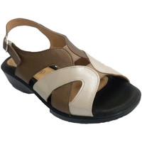 Schuhe Damen Sandalen / Sandaletten Doctor Cutillas Frau Sandale beige braune Töne und sehr Blau