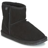 Schuhe Mädchen Boots EMU WALLABY MINI Schwarz