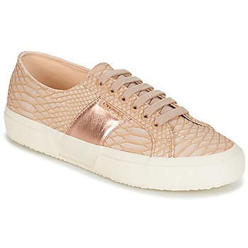 Schuhe Damen Sneaker Low Superga 2750 PU SNAKE W Beige