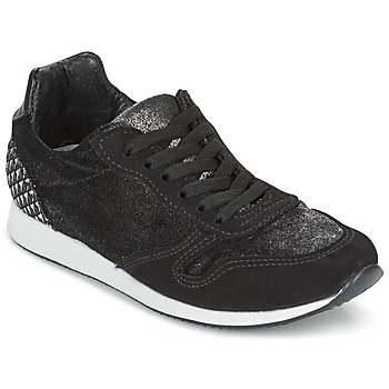 Schuhe Damen Sneaker Low Ippon Vintage RUN VELVET Schwarz