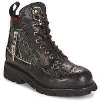 Schuhe Boots New Rock MORTY Schwarz
