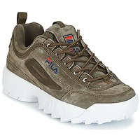 Schuhe Damen Sneaker High Fila DISRUPTOR S LOW WMN Olive