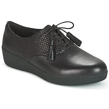 Schuhe Damen Derby-Schuhe FitFlop CLASSIC TASSEL SUPEROXFORD Schwarz