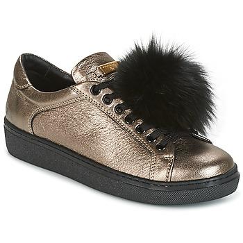 Schuhe Damen Sneaker Low Tosca Blu CERVINIA POM PON Schwarz