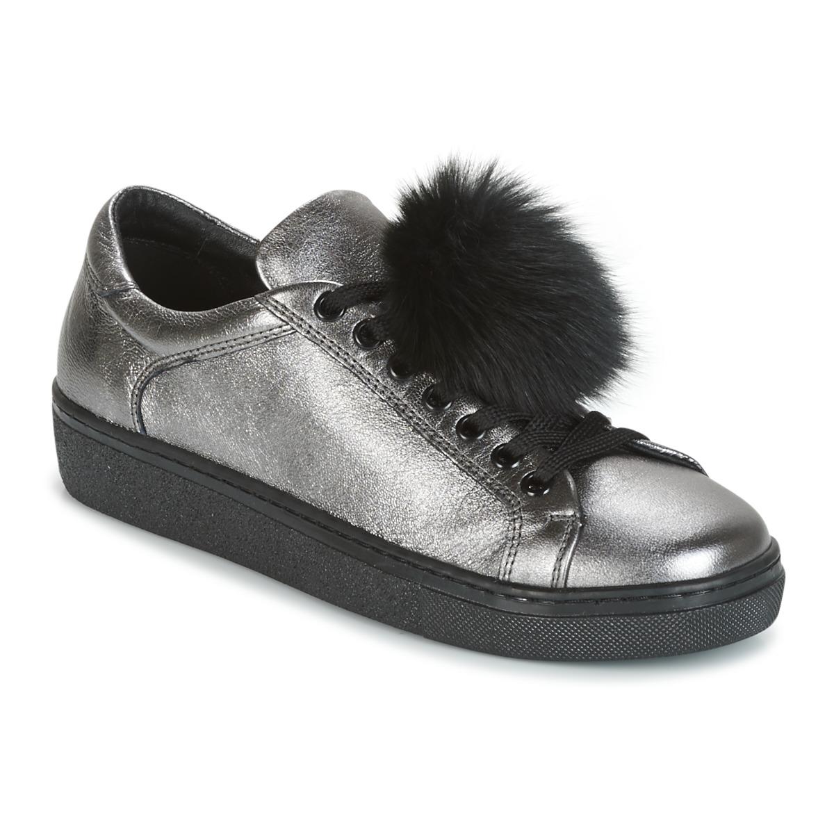Tosca Blu CERVINIA POM PON Silbern - Kostenloser Versand bei Spartoode ! - Schuhe Sneaker Low Damen 89,40 €