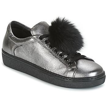 Schuhe Damen Sneaker Low Tosca Blu CERVINIA POM PON Silbern