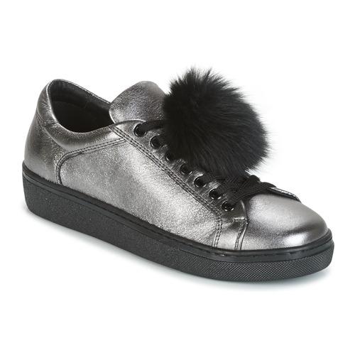 Tosca Blau CERVINIA POM PON Silbern  Schuhe Turnschuhe Low Damen