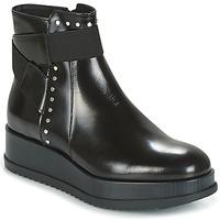 Schuhe Damen Boots Tosca Blu CIVETTA ABRASIVATO Schwarz