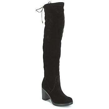 Schuhe Damen Kniestiefel Tosca Blu ST MORITZ Schwarz