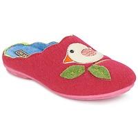 Schuhe Damen Hausschuhe Rondinaud RESTONICA Fuchsienrot