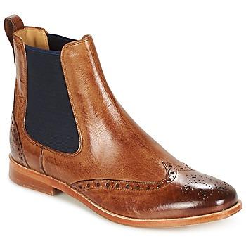 Schuhe Damen Boots Melvin & Hamilton AMELIE 5 Braun / Navy