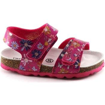 Schuhe Kinder Sandalen / Sandaletten Grunland GRÜNLAND LIGHT SB0807 fuchsia Fantasie Baby Sandalen Birk reißen Rosa